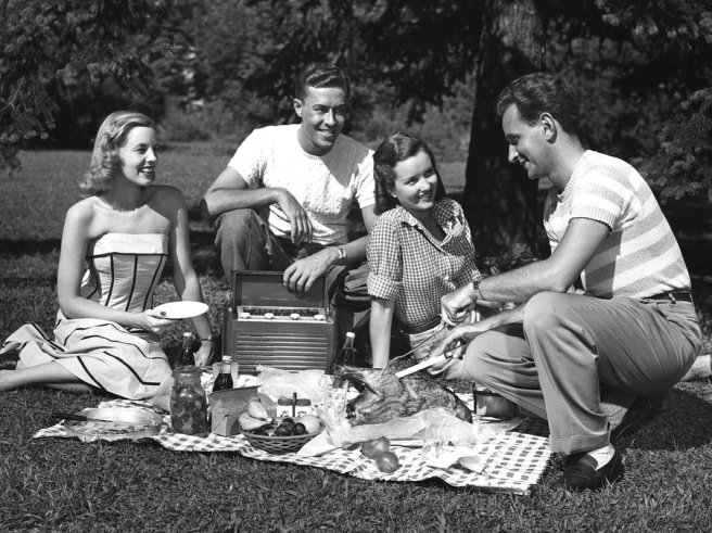 couples-picnic-50's